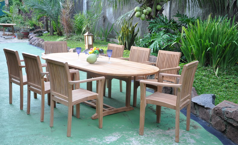 Articles - Indonesian teak dining table