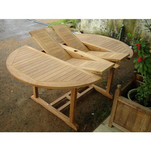 Teak Double Extension Table - Teak extension table outdoor