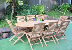 teak outdoor folding table and chairs