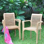 teak stacking garden chairs