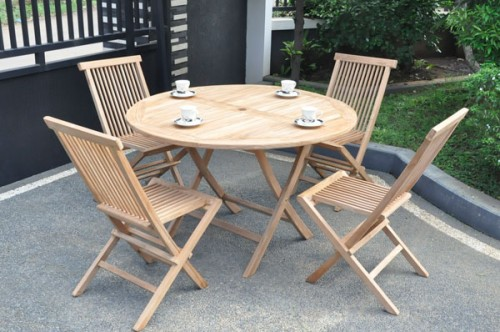 ROUND FOLDING TABLE 120 STANDART SET