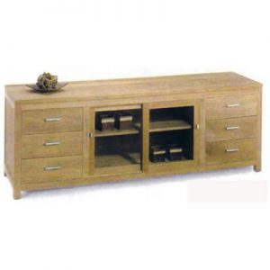 Buffet Sliding 2 Doors & 6 Drawers
