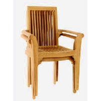 High Back Stacking Chair