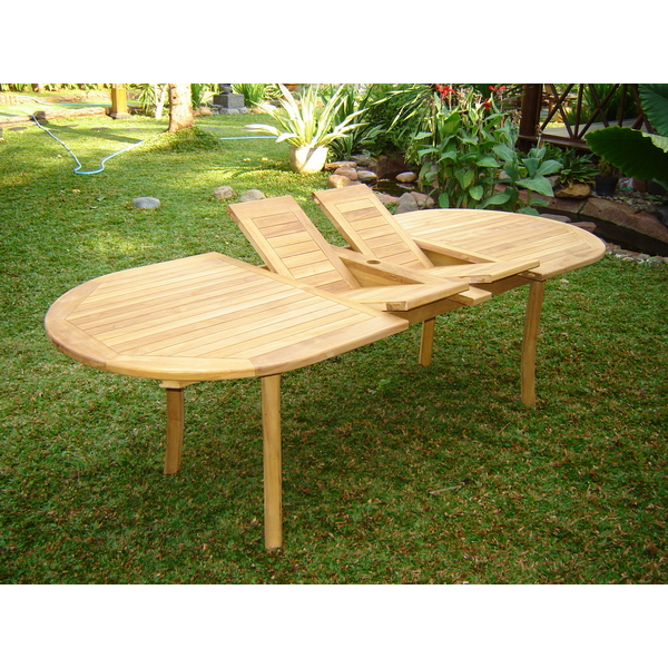 Awesome Double Extension Table Oval 4 Legs Indonesia Teak Garden Lamtechconsult Wood Chair Design Ideas Lamtechconsultcom