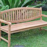 oval teak garden bench