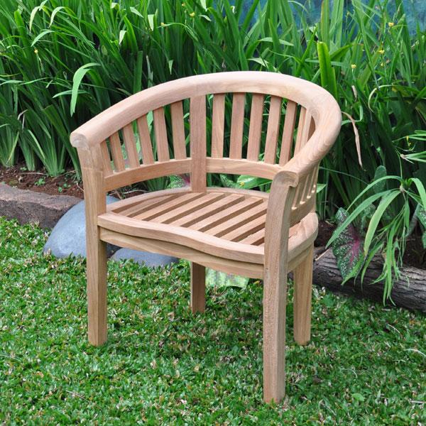 Peachy Banana Round Back Arm Chair Indonesia Teak Garden Creativecarmelina Interior Chair Design Creativecarmelinacom