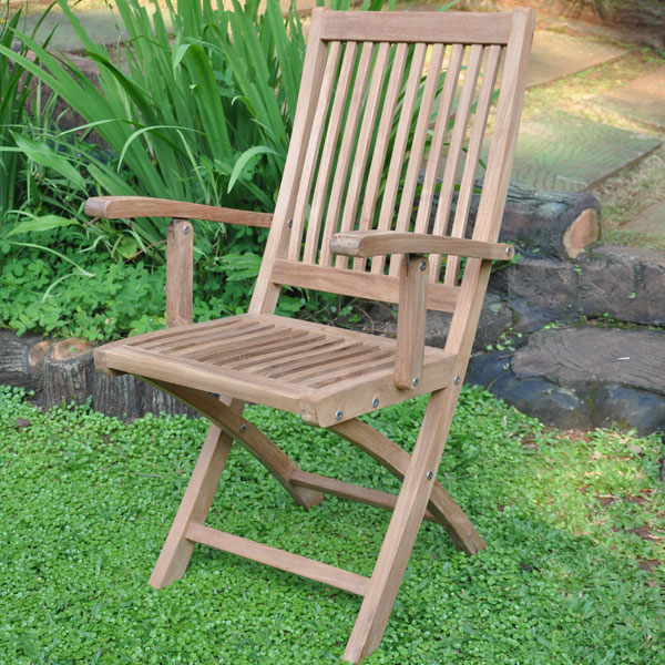 teak folding chairs with arms