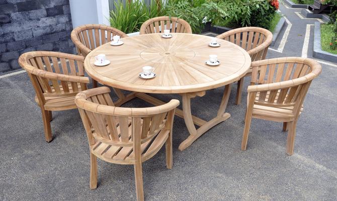 teak garden bench set