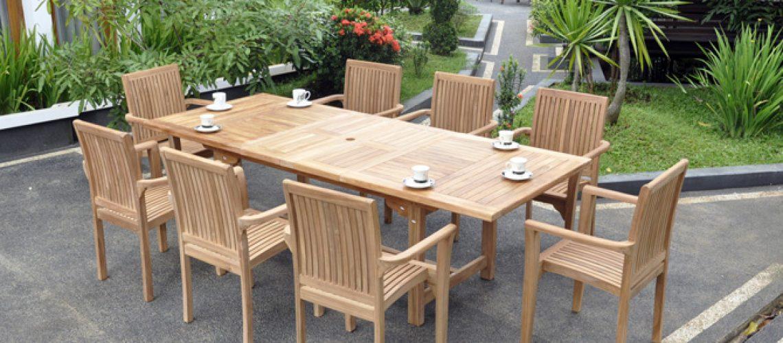 Strange Teak Garden Furniture Set For Outdoor Living Indonesia Machost Co Dining Chair Design Ideas Machostcouk